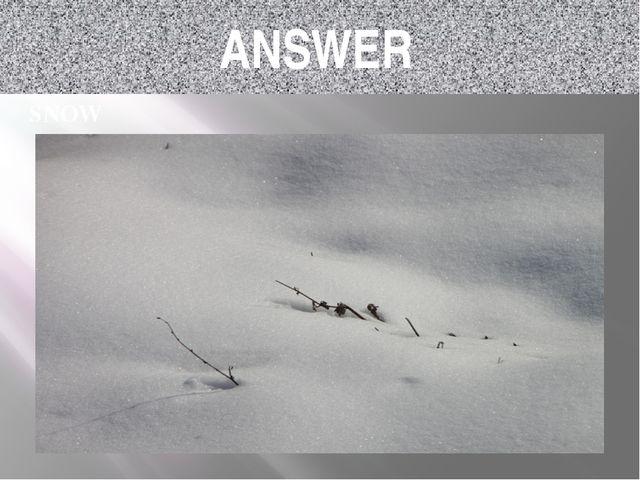 ANSWER SNOW