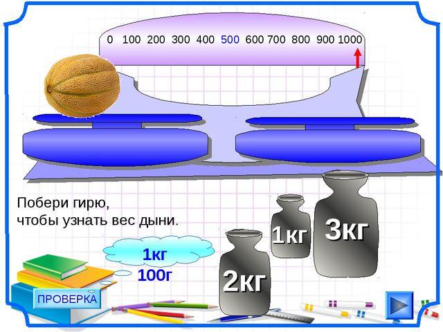 0 100 200 300 400 500 600 700 800 900 1000 Побери гирю, чтобы узнать вес дыни...