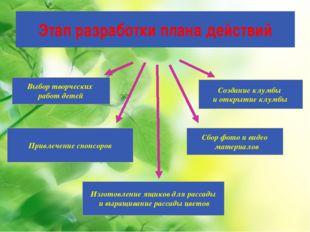 Этап разработки плана действий Изготовление ящиков для рассады и выращивание