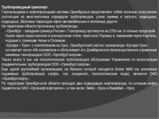 Трубопроводный транспорт Газопроводная и нефтепроводная системы Оренбуржья пр