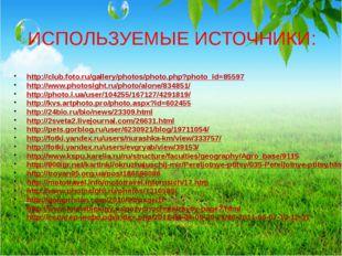 ИСПОЛЬЗУЕМЫЕ ИСТОЧНИКИ: http://club.foto.ru/gallery/photos/photo.php?photo_id