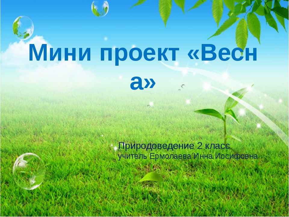 Мини проект «Весна» Природоведение 2 класс учитель Ермолаева Инна Иосифовна