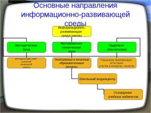 Основные направления информационно-развивающей среды