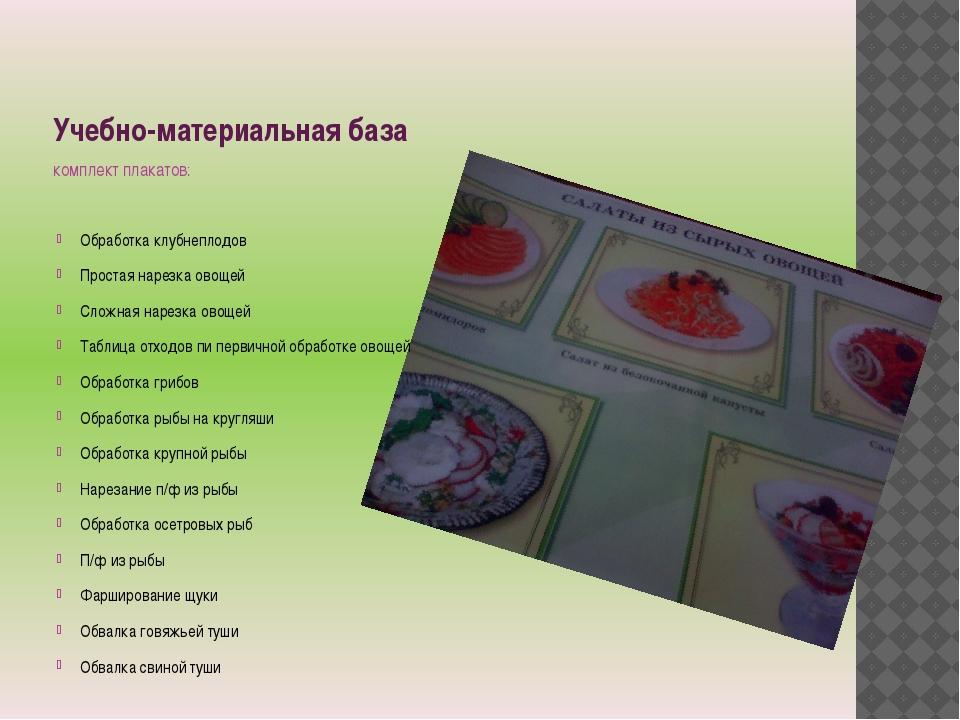 Учебно-материальная база комплект плакатов: Обработка клубнеплодов Простая на...