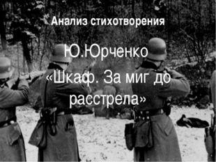 Анализ стихотворения Ю.Юрченко «Шкаф. За миг до расстрела»