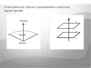 Геометрические образы в традиционном хакасском мировоззрении