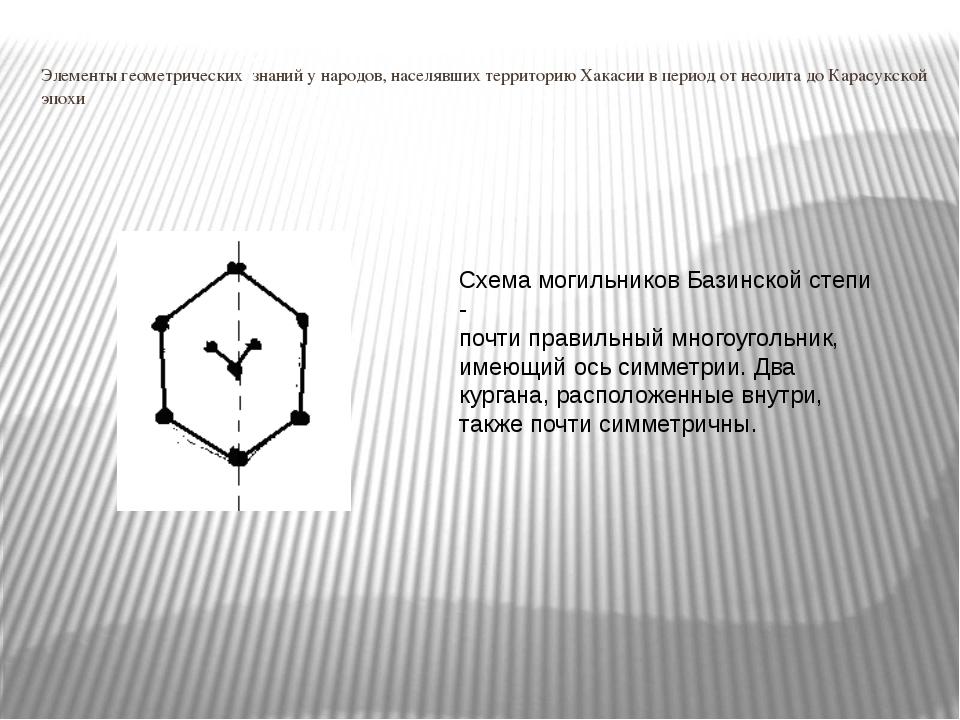 Элементы геометрических знаний у народов, населявших территорию Хакасии в пер...