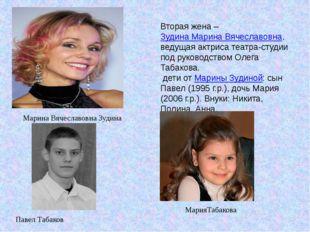 Вторая жена –Зудина Марина Вячеславовна, ведущая актриса театра-студии под р