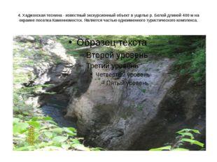 4. Хаджохская теснина - известный экскурсионный объект в ущелье р. Белой длин