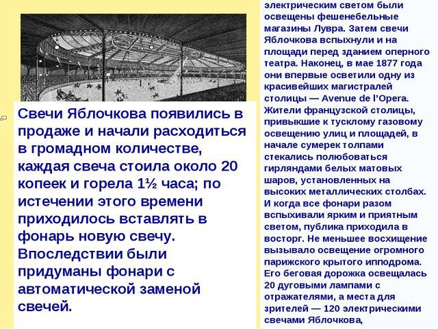 Свечи Яблочкова появились в продаже и начали расходиться в громадном количест...