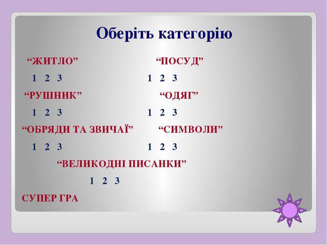 """Який елемент своєї оселі українці називають """"СВОЛОКОМ""""? А) перший сніп пшениц..."""