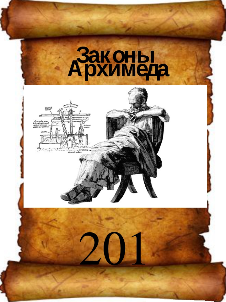 Законы Архимеда 201 Кабинет физики.