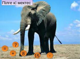 Пілге көмектес - 7 = + 8 15