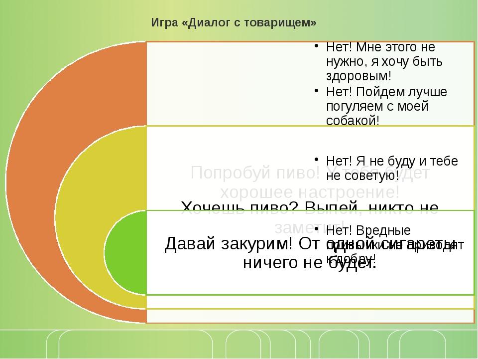 Игра «Диалог с товарищем»