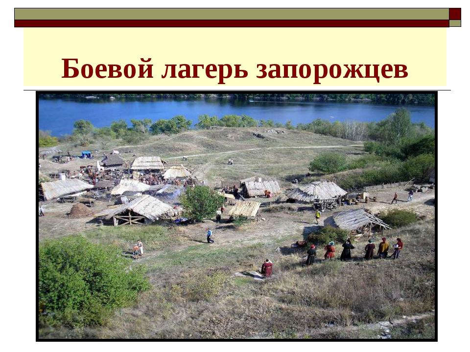 Боевой лагерь запорожцев