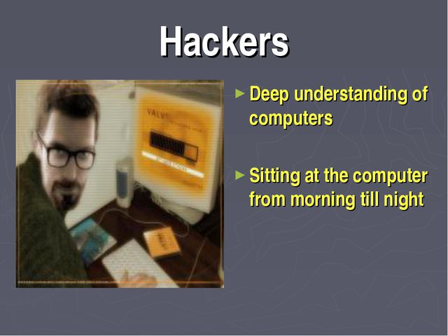 Hackers Deep understanding of computers Sitting at the computer from morning...