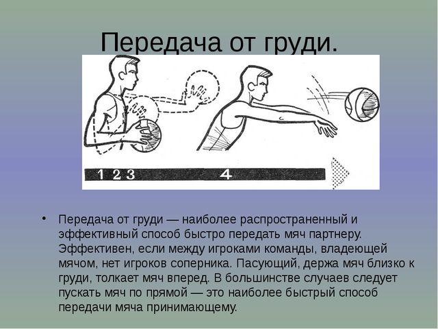 Передача от груди. Передача от груди— наиболее распространенный и эффективны...