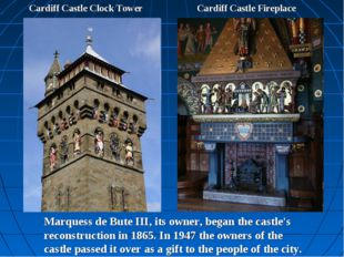 Cardiff Castle Clock Tower Cardiff Castle Fireplace Marquess de Bute III, its