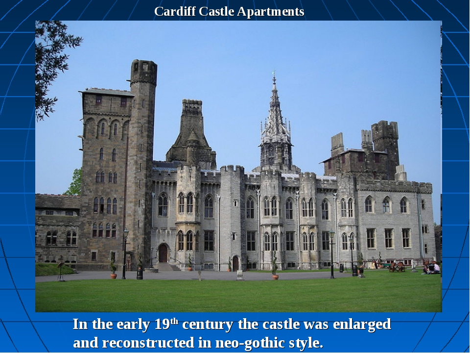 Cardiff Castle Apartments In the early 19th century the castle was enlarged a...