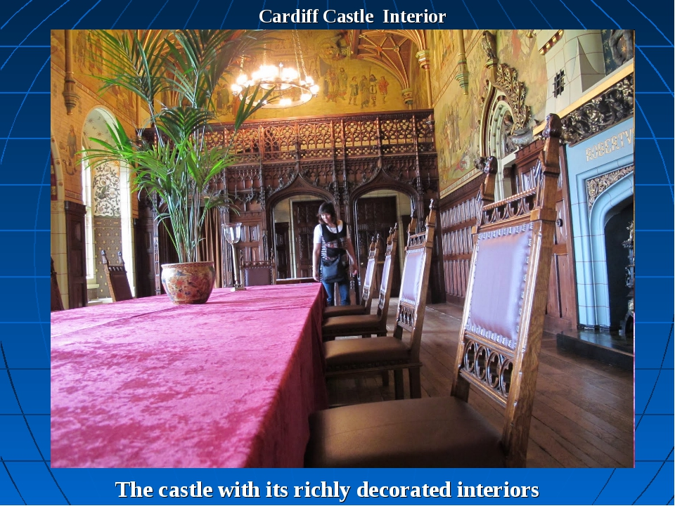 Cardiff Castle Interior The castle with its richly decorated interiors