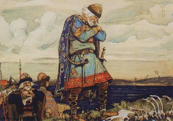 Князь Олег смерть от коня