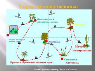Система уроков по разделу «Лексика» в 5 классе Карта путешественника Антонимы