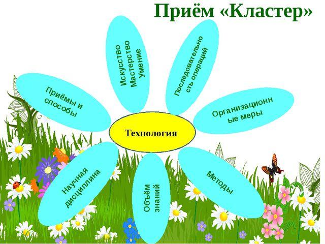 Приём «Кластер» Технология Приёмы и способы Методы Организационные меры Научн...