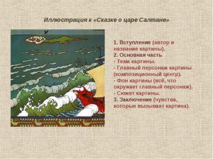 Иллюстрация к «Сказке о царе Салтане» 1. Вступление (автор и название картины