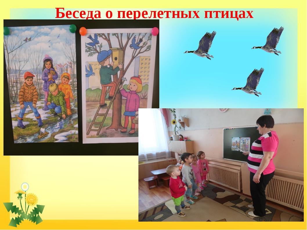 Беседа о перелетных птицах