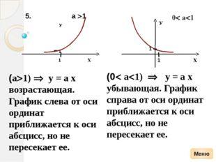 х у y= log2x 1/4 1/2 у -1 -2 0 1 2 3 х 8 4 2 1