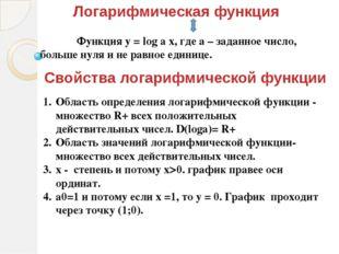 5. а 1 У 1 1 Х (а1)  у = log a x возрастающая. График ниже оси абсцисс при