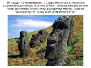 Их находят на западе Европы, в Средиземноморье, в Закавказье. В Армении суще