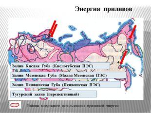 Энергия приливов Залив Кислая Губа (Кислогубская ПЭС) Залив Мезенская Губа (М
