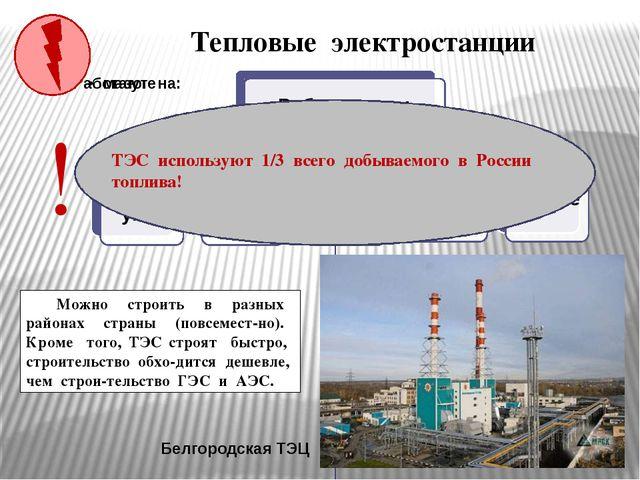 Тепловые электростанции Белгородская ТЭЦ Какие преимущества при строительстве...