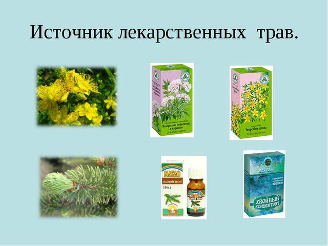 Источник лекарственных трав.