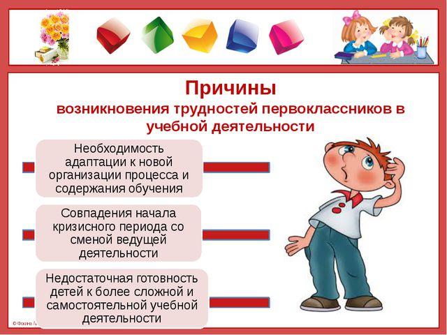 Причины возникновения трудностей первоклассников в учебной деятельности © Фок...