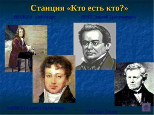 Станция «Кто есть кто?» ЛЕНЦ Эмилий Христианович ˜ОЛЬТА Алессандро АМϘЕР (A