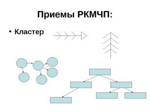 Приемы РКМЧП: Кластер
