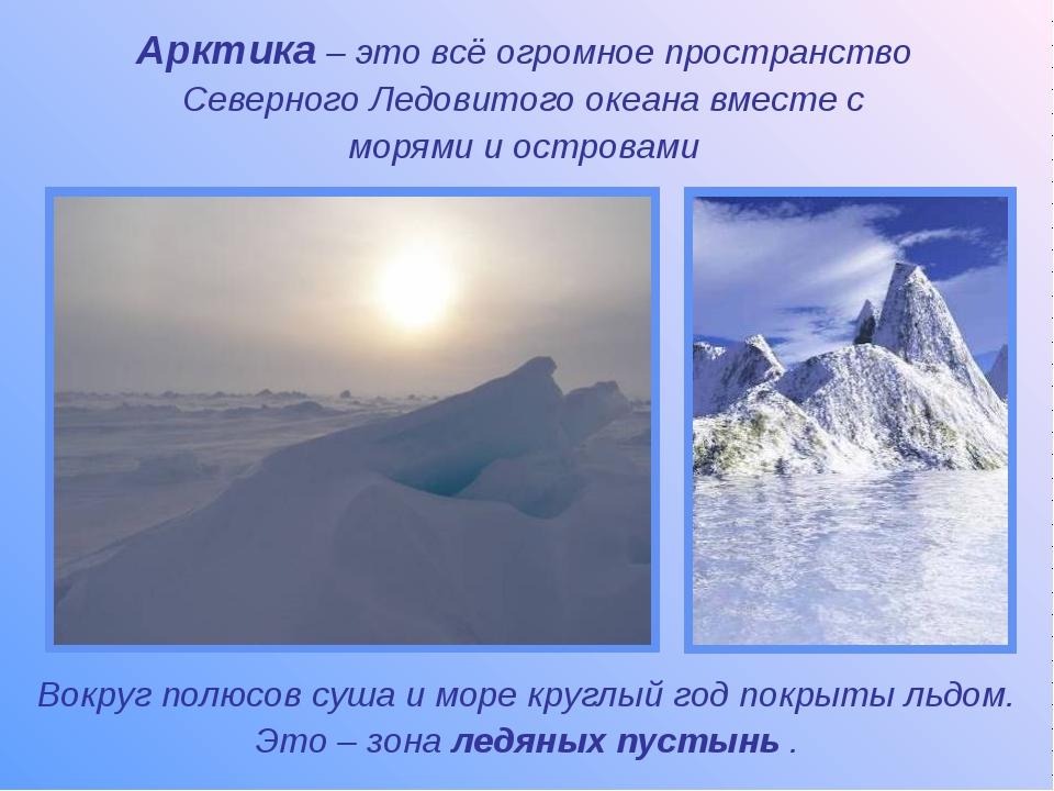 Арктика – это всё огромное пространство Северного Ледовитого океана вместе с...