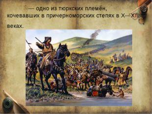 То́рки — одно из тюркских племён, кочевавших в причерноморских степях в X—XII