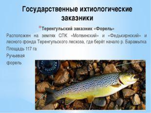 Государственные ихтиологические заказники Теренгульский заказник «Форель» Рас