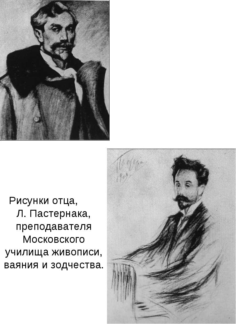 Рисунки отца, Л. Пастернака, преподавателя Московского училища живописи, ваян...
