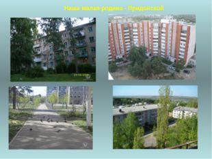 Наша малая родина - Придонской