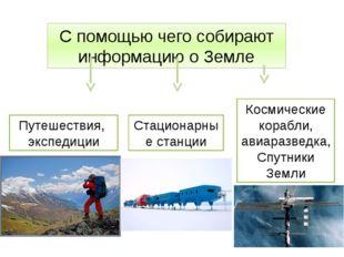 С помощью чего собирают информацию о Земле Путешествия, экспедиции Космически