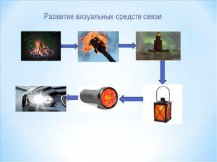 Развитие визуальных средств связи
