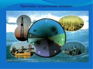 Причины загрязнения океанов: