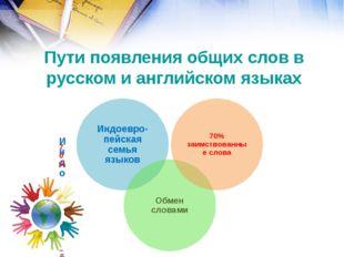Пути появления общих слов в русском и английском языках