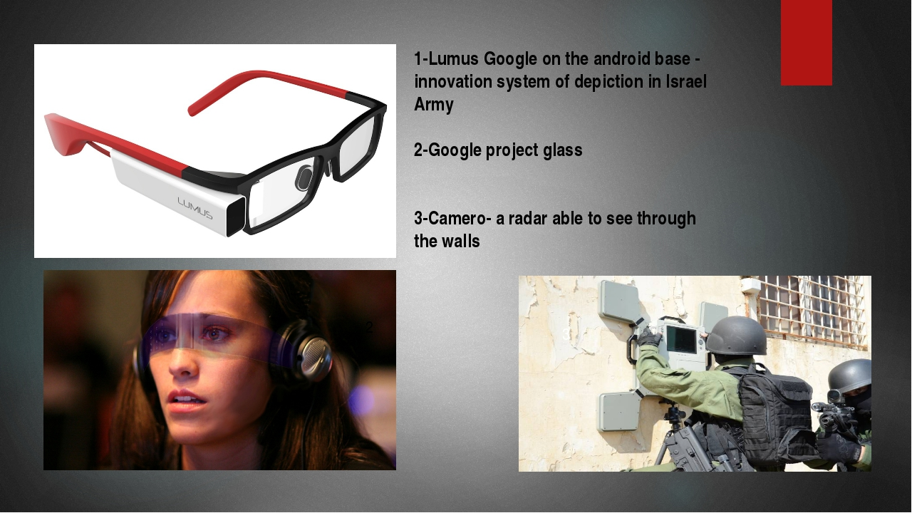 1 2 3 1-Lumus Google on the android base - innovation system of depiction in...