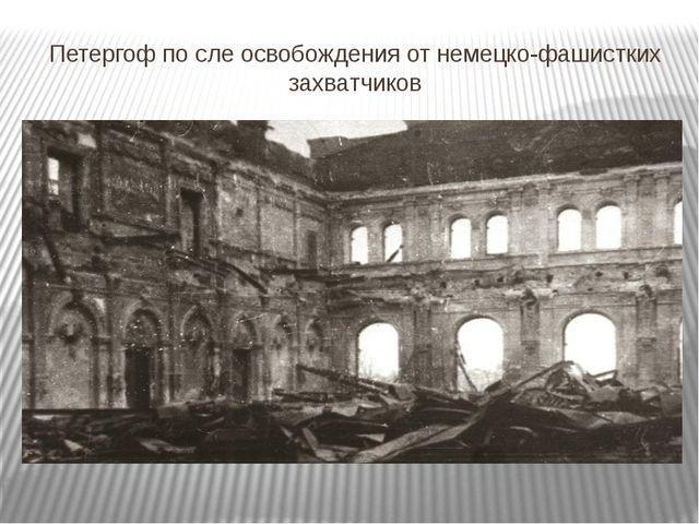 Петергоф по сле освобождения от немецко-фашистких захватчиков