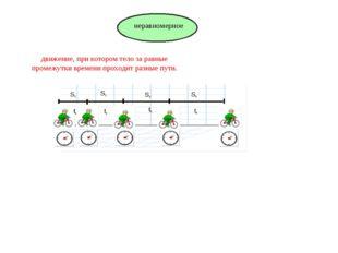 движение, при котором тело за равные промежутки времени проходит разные пути.
